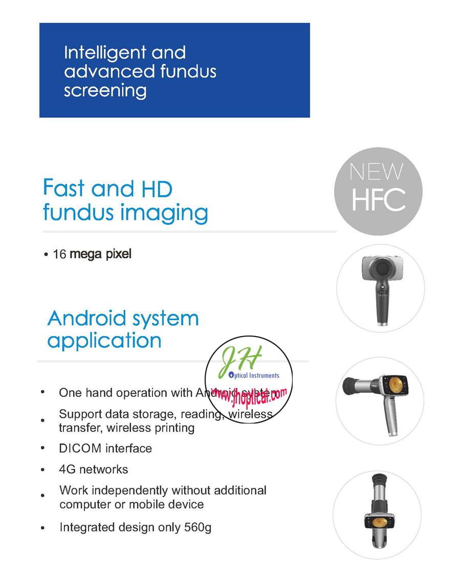 HFC-03 Luna Plus Portable Fundus Camera with base