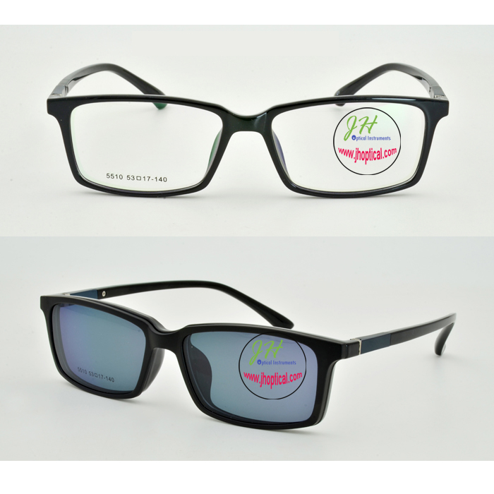 272499cb849 TD5510 TR90 Optical frame with magnetic Clip polarized sunglasses ...