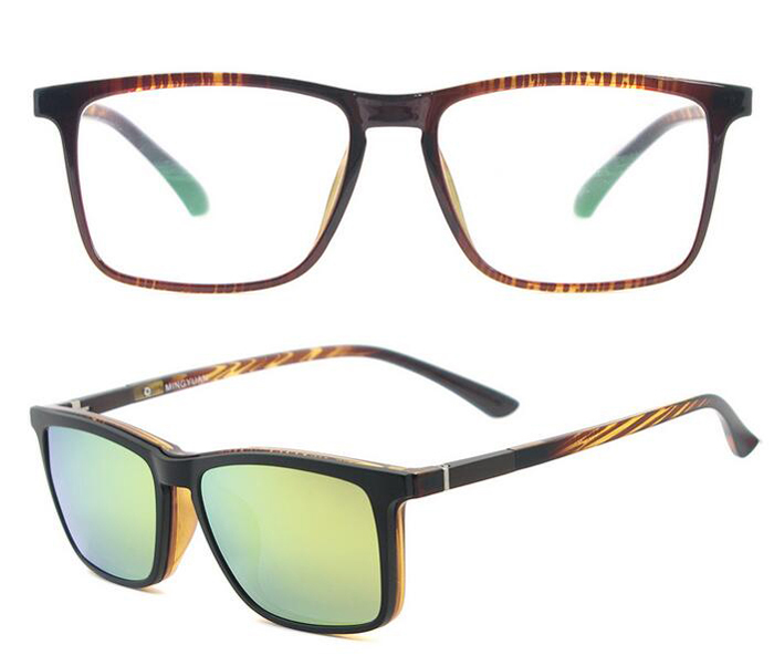 de94688191b 5512 TR90 magnetic clip polarized set optical frame
